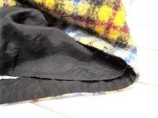画像7: モコモコ感が可愛い◎ マカフィー(MACPHEE)トゥモローランド チャック柄ツイードスカート 台形ミニ  ウール アルパカ混 サイズ:フリー(ウエスト:70‐72cm前後) 黄色系 USED【レディース】 (7)