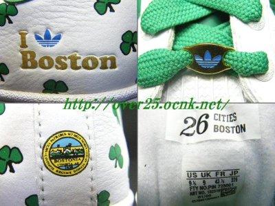 """画像2: 【新品】アディダス スーパースター 35周年記念 adidas SUPER STAR 35th ANNVERSARY SUPERSTAR CITY SERIES """"BOSTON ボストン""""モデル 【132319】"""