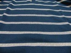 画像7: ディテイルまで素敵な1着!新品|ADMIX アトリエサブ|2枚衿ボーダー柄ブルー系|半袖ポロシャツ|サイズ:M(細身のためS〜Mサイズ相当)|メンズ (7)