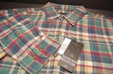 画像3: 風合い&着心地◎アメカジシャツ|新品|TETE HOMME(テットオム)|ヴィンテージ加工 長袖チェック柄ネルシャツ(ブルーグリーン系)|サイズ:M(チェスト:88〜96)| メンズシャツ (3)