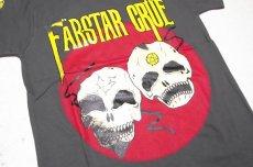 画像3: 【激レアブランドのロックTシャツ】FAR★STAR(ファースター)|ガイコツ(スカル)柄 デザインTシャツ(グレー)|サイズ:0(Sサイズ程度)|美USED (3)