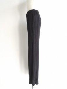 画像3: 脚長効果◎ MACPHEE(マカフィー) トゥモローランド  ウール100% リブニットパンツ|ブラック系|サイズ:36(ウエスト:66〜70cm)USED|レディース (3)