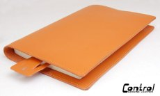 画像1: 素敵なお色が、アナタのイメージカラーになる!【新品】大人のたしなみ 本革ブック(単行本)カバー オレンジ (1)