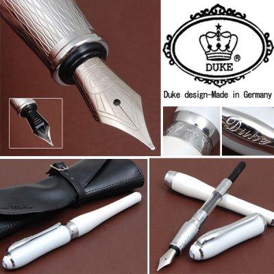 画像1: 【新品】DUKE社 バニラの塗装を施した艶がある立体感ボディ万年筆