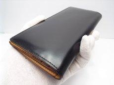 画像7: 革のダイヤモンド 定価45,360円 JUWEL Cordovan(ジュエルコードバン) 長財布 小銭入れ ブラック(黒) USED (7)