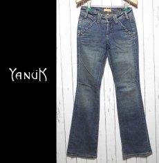 画像2: お洒落な女性にオススメの1本 アメリカ製セレブブランド ヤヌーク(YANUK) Worker Classic デニムパンツ ジーンズ サイズ:25(ウエスト:77cm) レディース  USED (2)