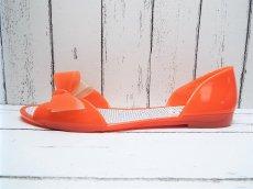 画像7: 夏に映える1足 FURLA(フルラ)  CANDY(キャンディー) オープントゥ PVCサンダル サイズ:39(24cm前後)オレンジ×ベージュ レディース (7)