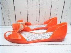 画像6: 夏に映える1足 FURLA(フルラ)  CANDY(キャンディー) オープントゥ PVCサンダル サイズ:39(24cm前後)オレンジ×ベージュ レディース (6)