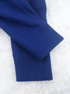 画像5: 都会派のためのメルトンコート!SUIT SELECT(スーツセレクト)SKINNY TRAD ウールダブル Pコート|ブルー×ソリッド|サイズ:M(肩幅:44cm)USED【メンズ】 (5)