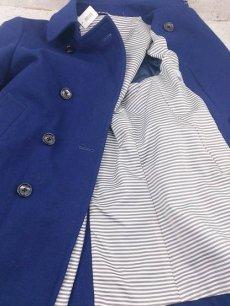 画像3: 都会派のためのメルトンコート!SUIT SELECT(スーツセレクト)SKINNY TRAD ウールダブル Pコート|ブルー×ソリッド|サイズ:M(肩幅:44cm)USED【メンズ】 (3)