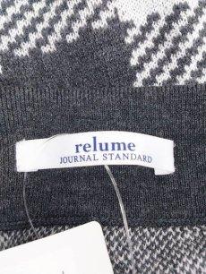 画像4: ウエストゴムが嬉しい! JOURNAL STANDARD relume(ジャーナルスタンダード レリューム)市松模様チェック柄 膝丈タイトニットスカート|グレー系|サイズ:フリー(ウエスト:60~62cm ヒップ:82〜84cm|5~7号)  (4)