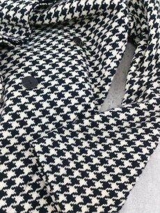 画像7: 上品スタイルで決める!ROPE(ロペ) 千鳥格子柄ベルト付ツイードコート アイボリー×ブラック サイズ:9AT USED 【レディース】 (7)