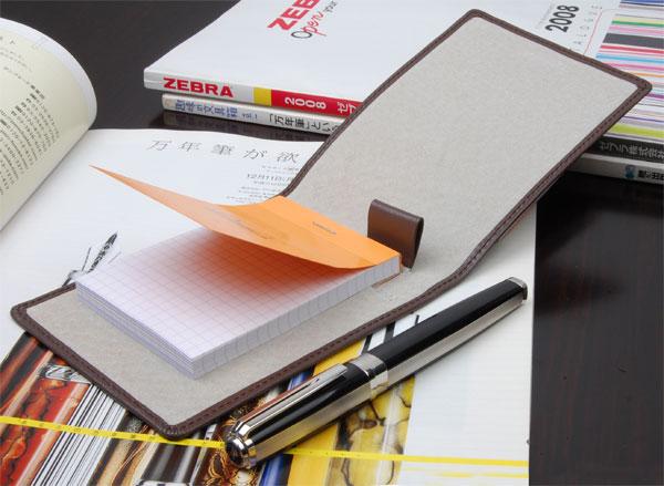 画像1: 【新品】CONTROL ビジネスシーンをスマートにメモ帳カバー ブラウン (1)