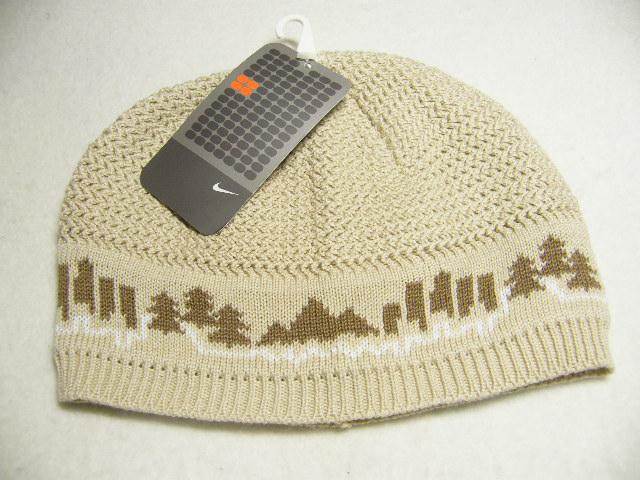 画像1: 【新品】ナイキ ケーブル編み&リブニット帽 ベージュ 頭囲57〜59cm (1)