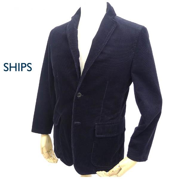 画像1: 【美品USED】シップス SHIPS×NIEDIECK CORD 段返り 3Bコーデュロイ ネイビー紺ジャケット Mサイズ (1)