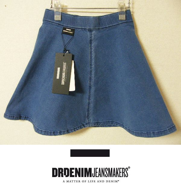 画像1: 新品 Dr.DENIM ドクターデニム  ストレッチ素材 ミニスカート(ブルー系)【Sサイズ/7号程度:ウエスト59cm】 (1)