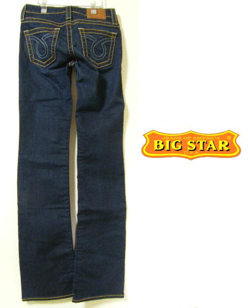 画像1: これぞブルーデニム【新品(メキシコ製)】BIG STAR ビックスター フレアカット ブルーデニム濃紺 サイズ:24(ウエスト:75cm/15号・L) (1)