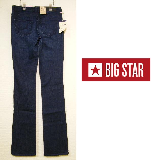 画像1: 新品(メキシコ製) BIG STAR  REMY BOOT ブーツカットブルースキニーデニムパンツ【ウエスト:76cm/日本サイズ:17号(L)】 (1)
