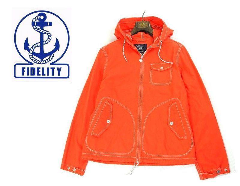 画像1: 有名ブランドとのコラボで大人気 【新品】 FIDELITY(フィデリティ)コットン ウェザー マリンパーカー (マウンテンパーカージャケット) オレンジ橙【サイズ:L】【メンズ】 (1)