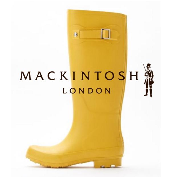 画像1: 創業1823年の老舗ブランド 新品 三陽商会扱い正規品 マッキントッシュロンドン(MACKINTOSH LONDON)ラバーブーツ(レインブーツ) 24cm(イエロー) (1)