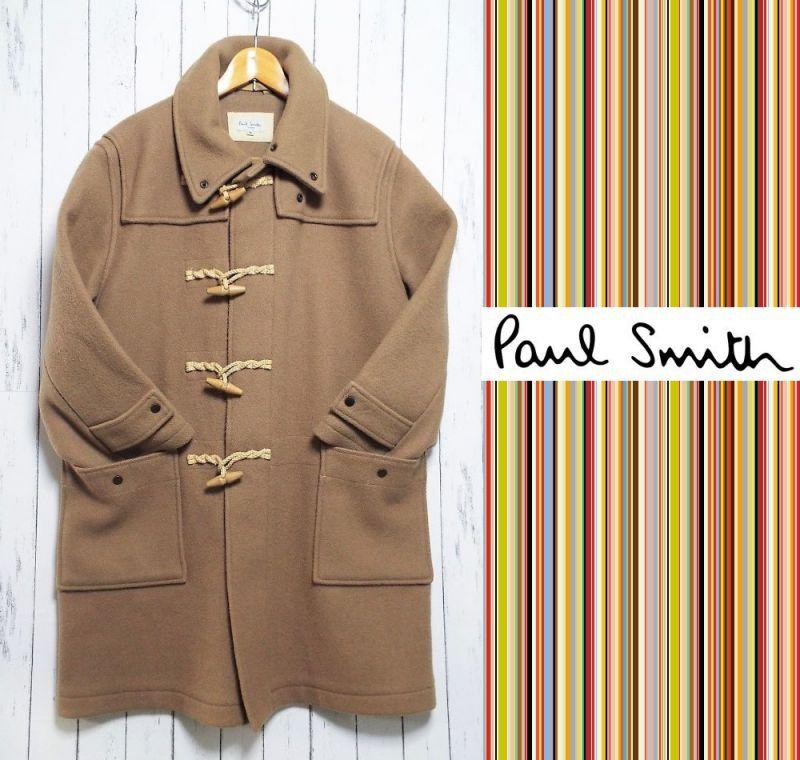 画像1: 冬の定番コート|ポールスミス(Paul Smith)キャメルカラー ダッフルコート|サイズ:M (1)