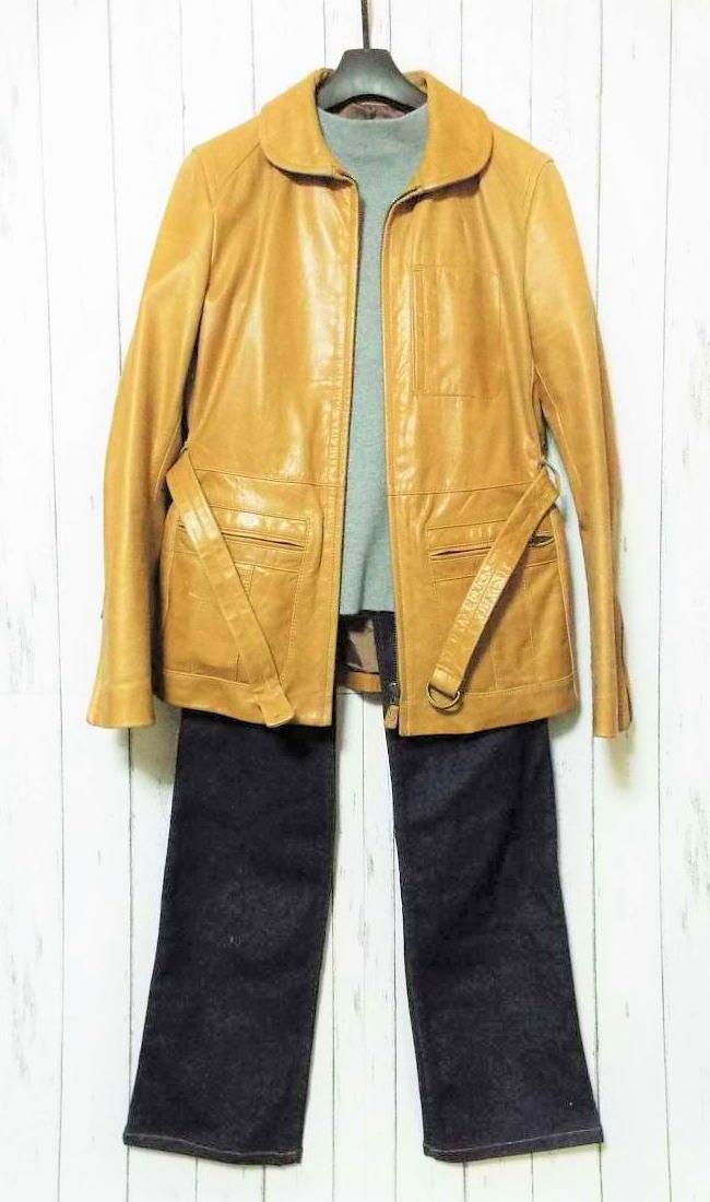 画像1: 【コーディネート例】古着のレザージャケット&デニムコーデ (1)