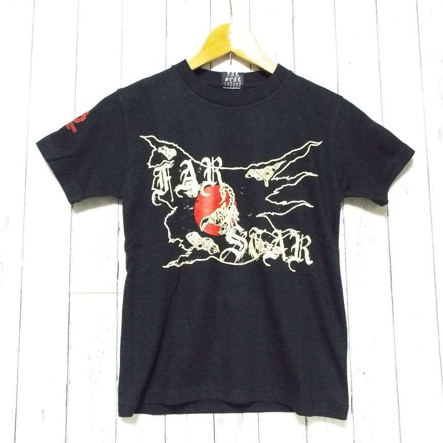 画像1: 【激レア!ロックTシャツ】FAR★STAR|新品|日本(JAPAN)デザインTシャツ(ブラック)|サイズ:0(Sサイズ程度)|小柄女子向き (1)