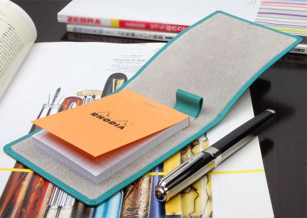 画像1: 【新品】CONTROL ビジネスシーンをスマートに!メモ帳カバー 青  (1)