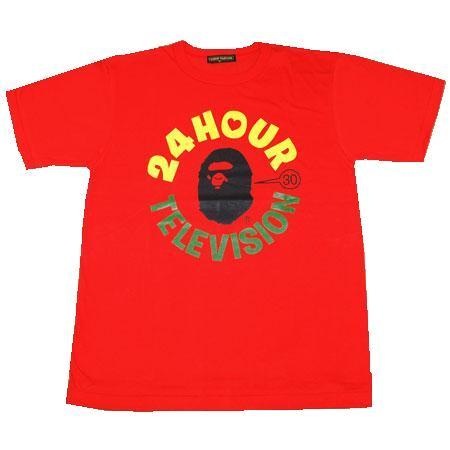 画像1: 【新品】タッキー&翼×NIGO(R) APE×24時間テレビ  猿顔カレッジロゴTシャツ エイプ 赤レッド (1)