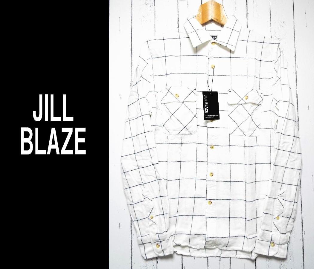画像1: 【メンズ】新品 JILL BLAZE チェック柄ネルシャツ|サイズ:M|肩幅:約41.5cm (1)