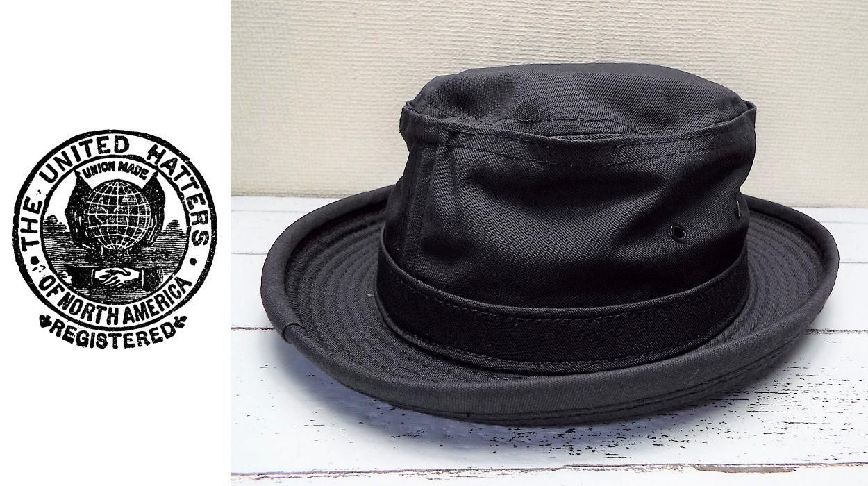 画像1: 【値下げしました】未使用品|アメリカ製|プライムピースセレクト CBC|THE UNITED HATTERS(ユナイテッドハッターズ)ポークパイハット| 黒(ブラック) |サイズ:M(56cm)|帽子 (1)