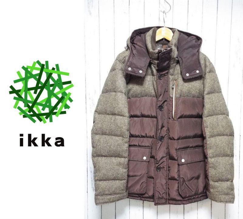 画像1: 英国紳士の装い! ikka(イッカ)英国MOON社 Shetland MOON 切り替えダウンジャケット|サイズ:XL(175cm前後)|USED|メンズ (1)