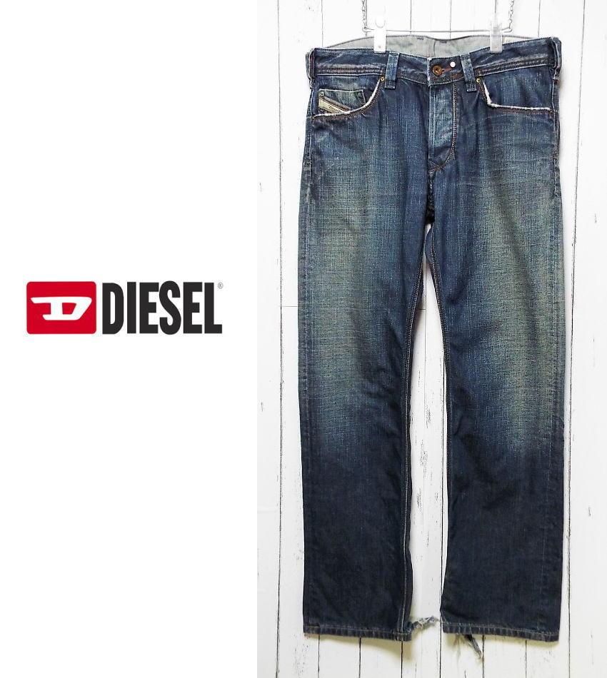画像1: 古着好きにオススメ!イタリア製 Diesel DENIM DIVISION(ディーゼル)YARIK ボタンフライ ファスナー付きバックポケット インディゴデニム サイズ:31(ウエスト:約88c) USED メンズ (1)