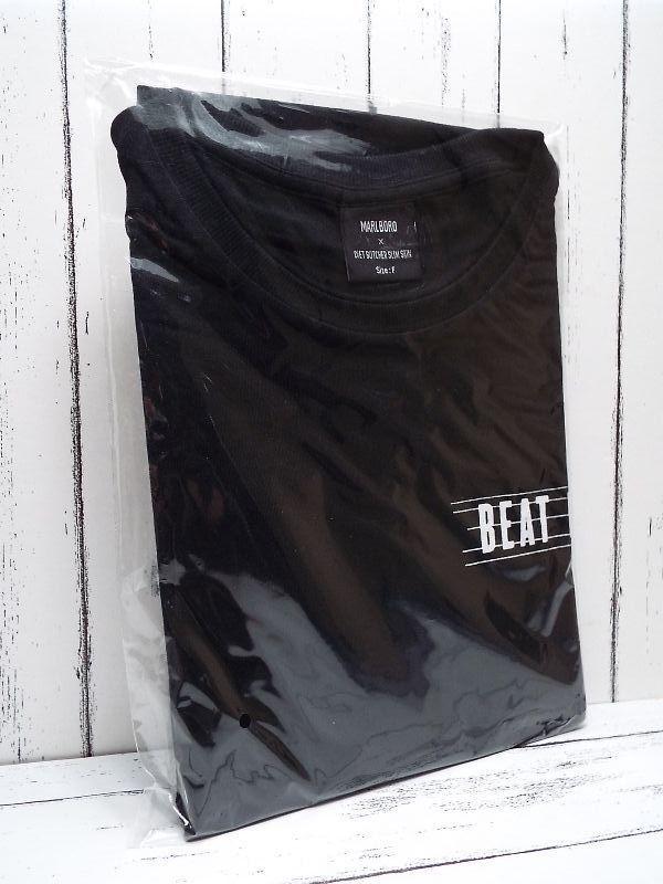 画像1: 送料安!【新品未使用 非売品】DIET BUTCHER SLIM SKIN(ダイエットブッチャースリムスキン)×マルボロ(MARLBORO) コラボ Tシャツ ブラック×ホワイトロゴ入り フリーサイズ (1)