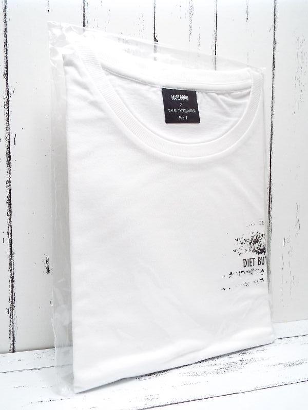 画像1: 【新品未使用|非売品】DIET BUTCHER SLIM SKIN(ダイエットブッチャースリムスキン)×マルボロ(MARLBORO) コラボ Tシャツ|ホワイトロゴ|フリーサイズ (1)