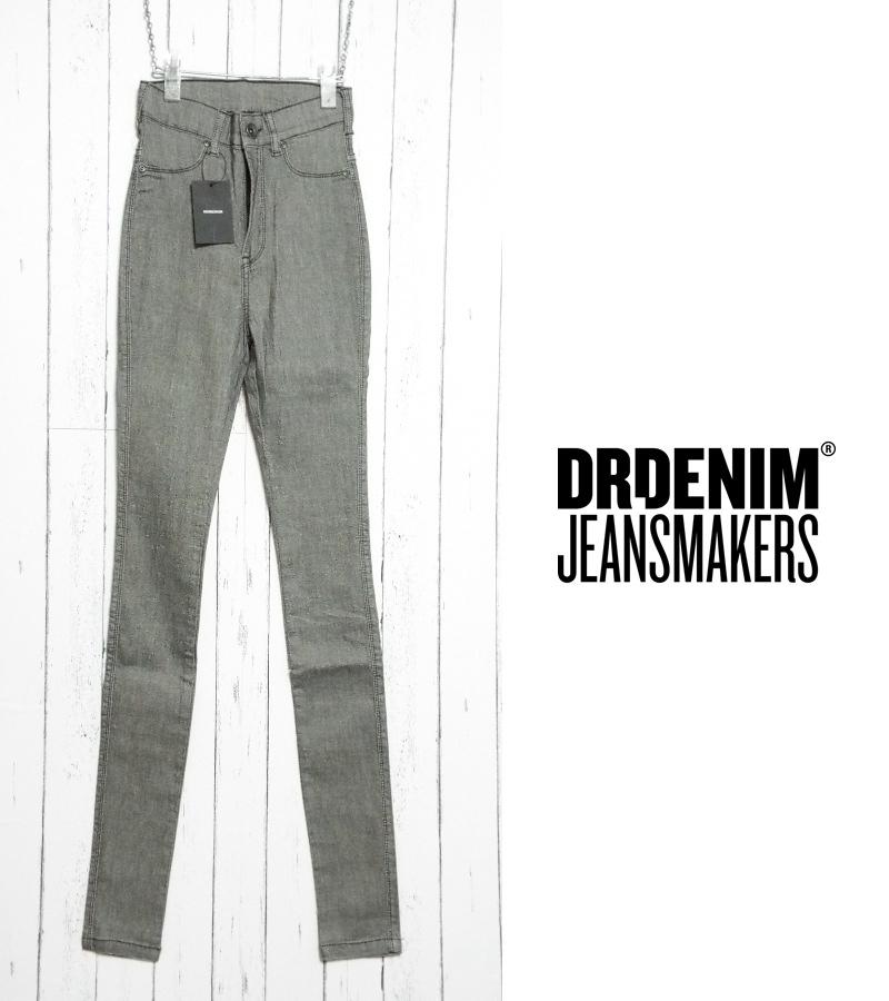 画像1: 約250gの軽量ジェギンスパンツ|新品 Dr.DENIM ドクターデニム ストレッチスキニーパンツ グレー|サイズ:ウエスト:60cm・日本サイズ:7号・M|カラーパンツ|脚長効果 (1)