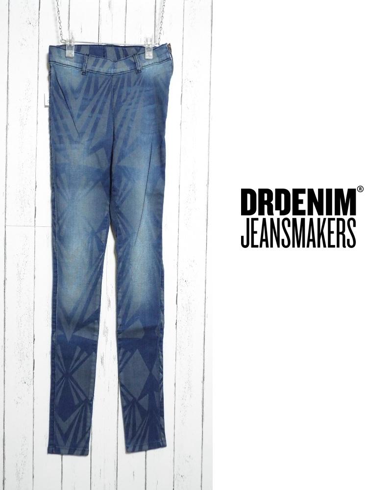 画像1: 約280gの軽量ジェギンス|新品 Dr.DENIM ドクターデニム ストレッチスキニー ブルーデザインパンツ(ウエスト:65cm/日本サイズ:9号・M) (1)